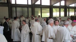 Les frères au repas dans le réfectoire du couvent de Toulouse